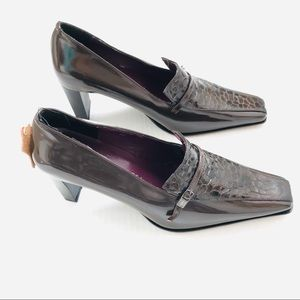Casanova made in Italy patent leather brown shoes